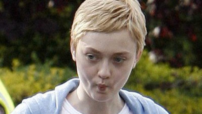 Dakota Fanning, cu parul scurt pentru filmul