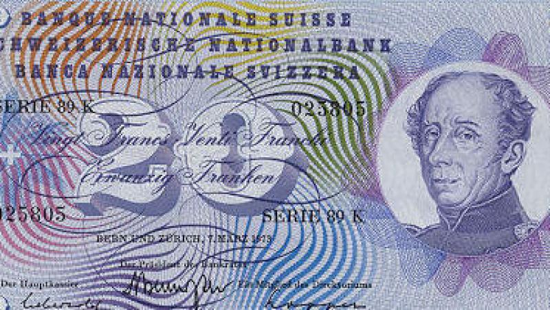 Francul elvetian inregistreaza o scadere semnificativa. Vezi cursul BNR!
