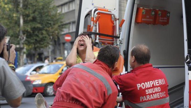 UPDATE! Balconul unui apartament din Timisoara s-a prabusit. Doua femei grav ranite