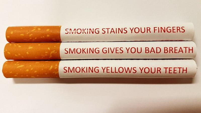 Aviz fumătorilor: mesajele de avertizare care vor fi puse pe fiecare țigară în parte. Cum vor arăta| FOTO