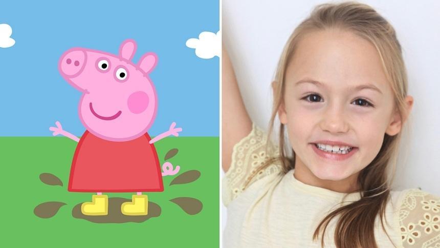 Amelie Bea Smith, în vârstă de nouă ani, va împrumuta vocea celebrului personaj britanic de desen animat Peppa Pig