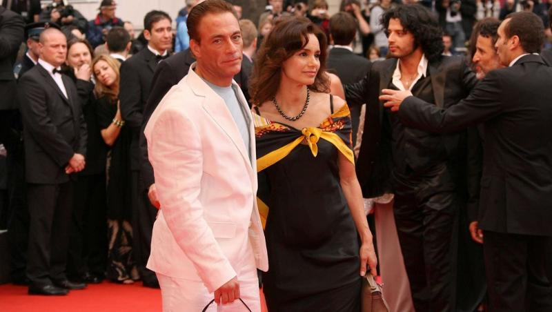 Jean Claude Van Damme si sotia sa, Gladys Portugues, pe covorul rosu