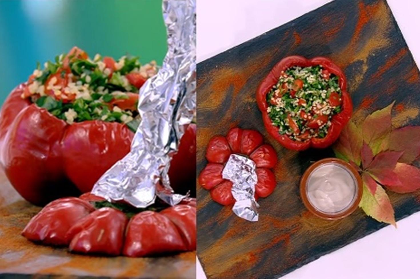 Rețetă delicioasă de toamnă. Gogoșari umpluți cu salată tabbouleh
