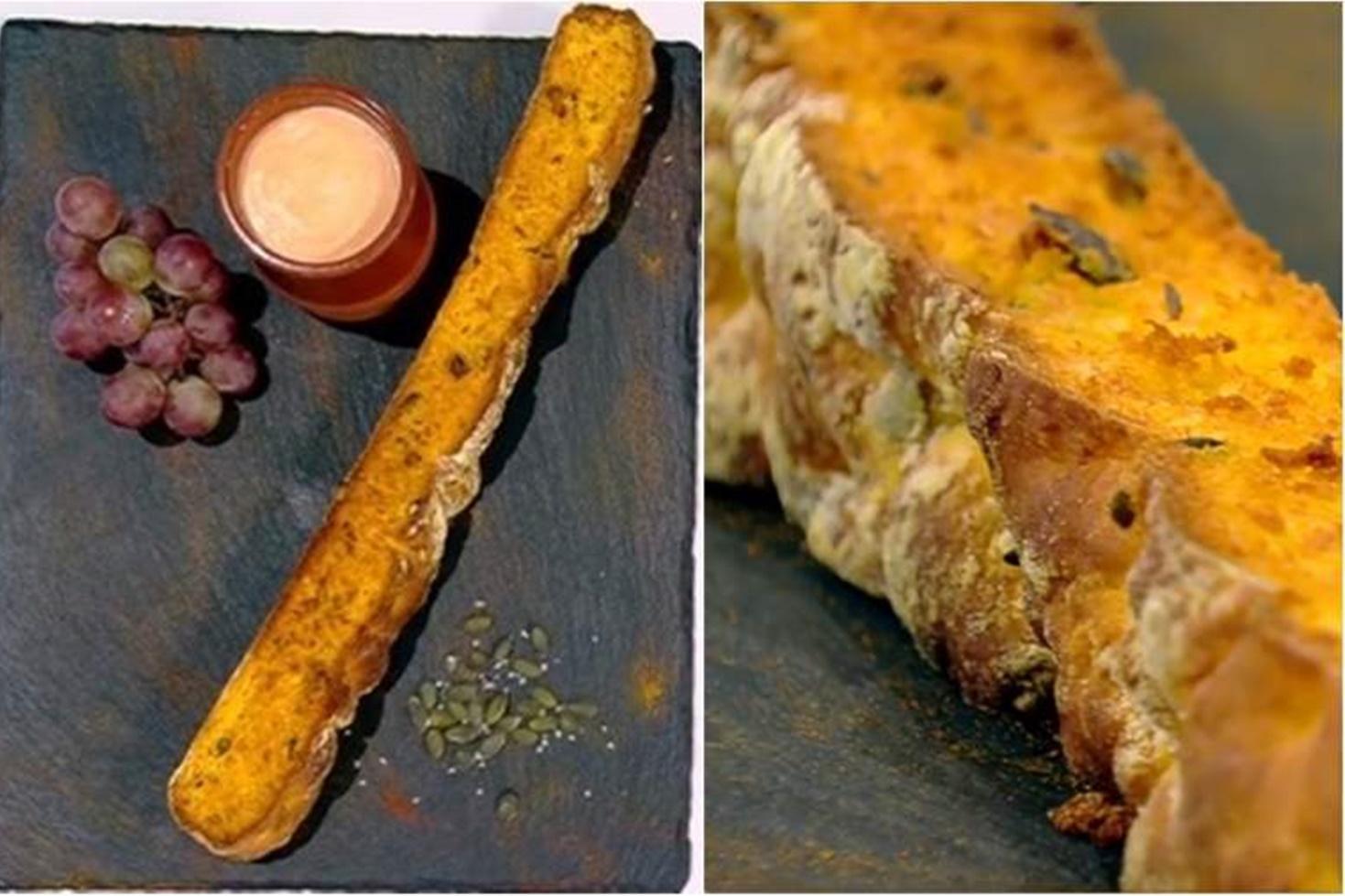 Rețetă de pâine cu dovleac în aluat. Arome de toamnă