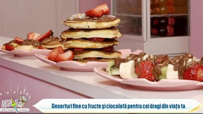 deserturi fine cu fructe și ciocolată