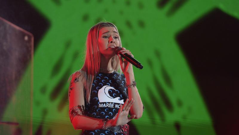Alina Eremia, concertând în cadrul evenimentului The Concert drive-in, 26 iunie 2020