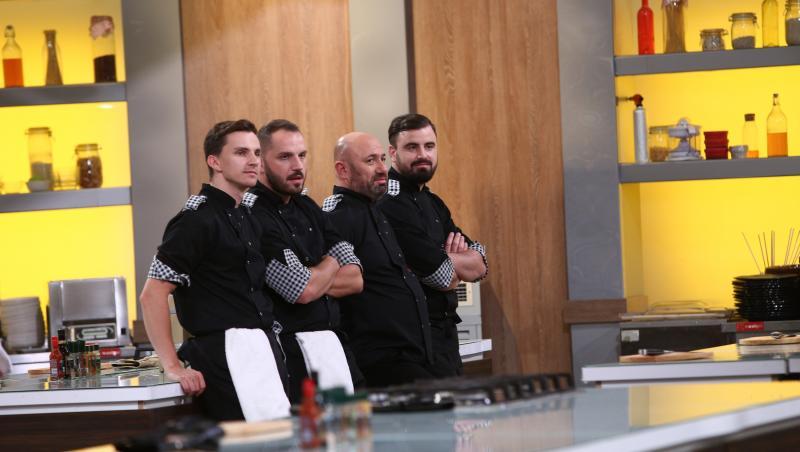 """Cătălin Scărlătescu și echipa sa, în semifinala emisiunii """"Chefi la cuțite"""" 2020"""