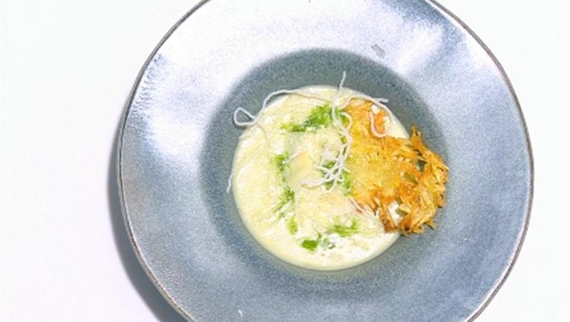 Supă cremă de cartofi cu praz