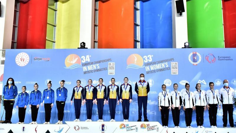 România, medalia de aur la echipe, la junioare