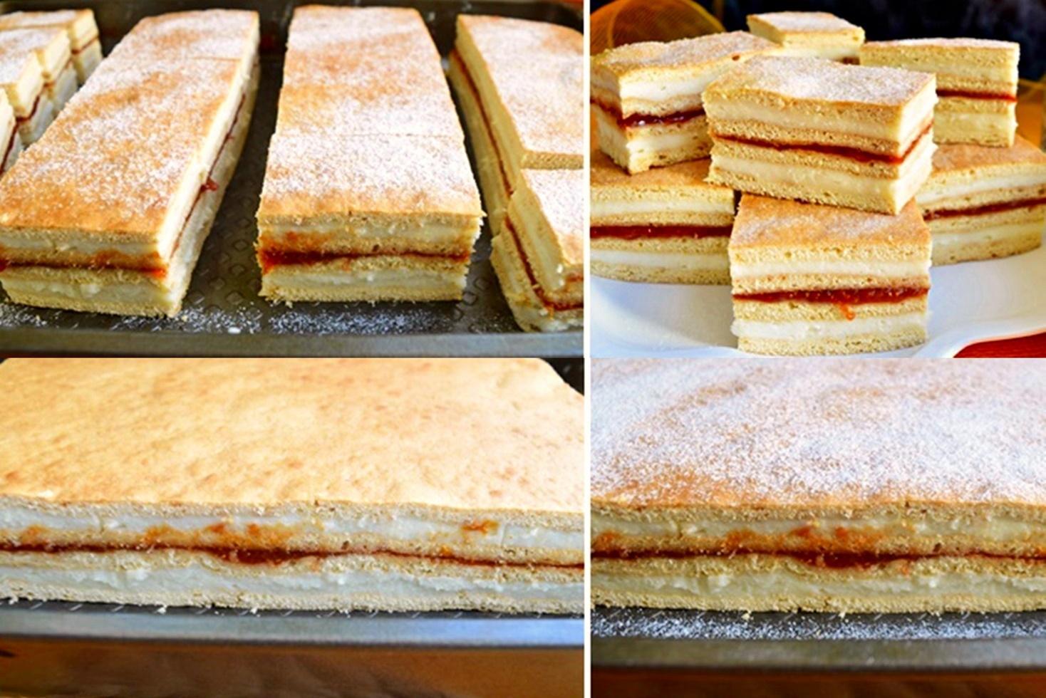 Prăjitura Albinița. Rețetă de prăjitură din foi cu miere și cremă de griș