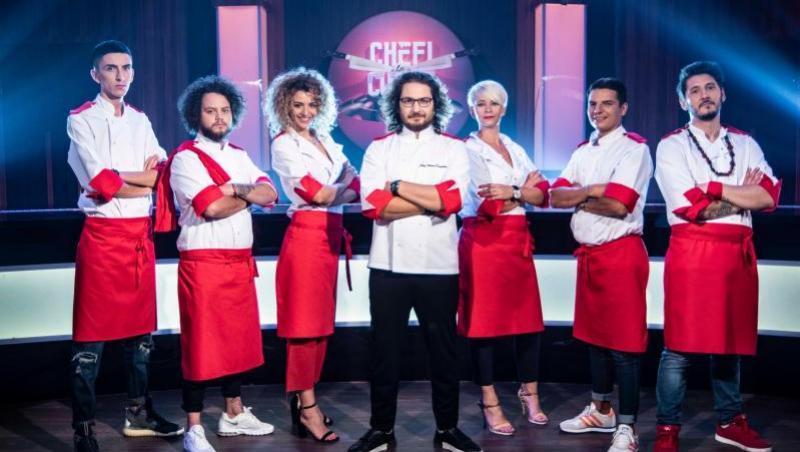 Florin Dumitrescu, alături de echipa lui, la Chefi la cuțite 2018