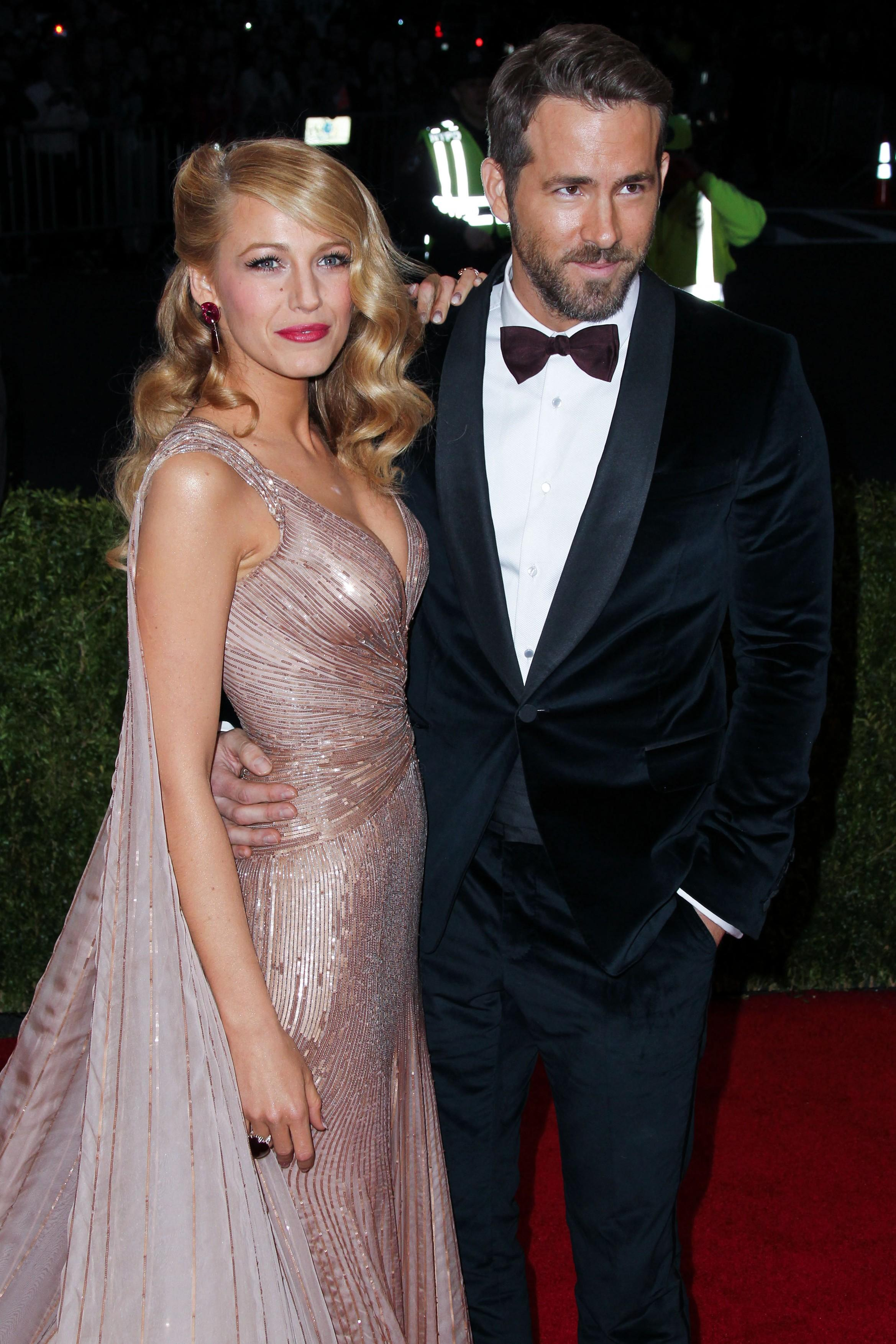 Blake Lively si Ryan Reynolds la Met Gala 2014