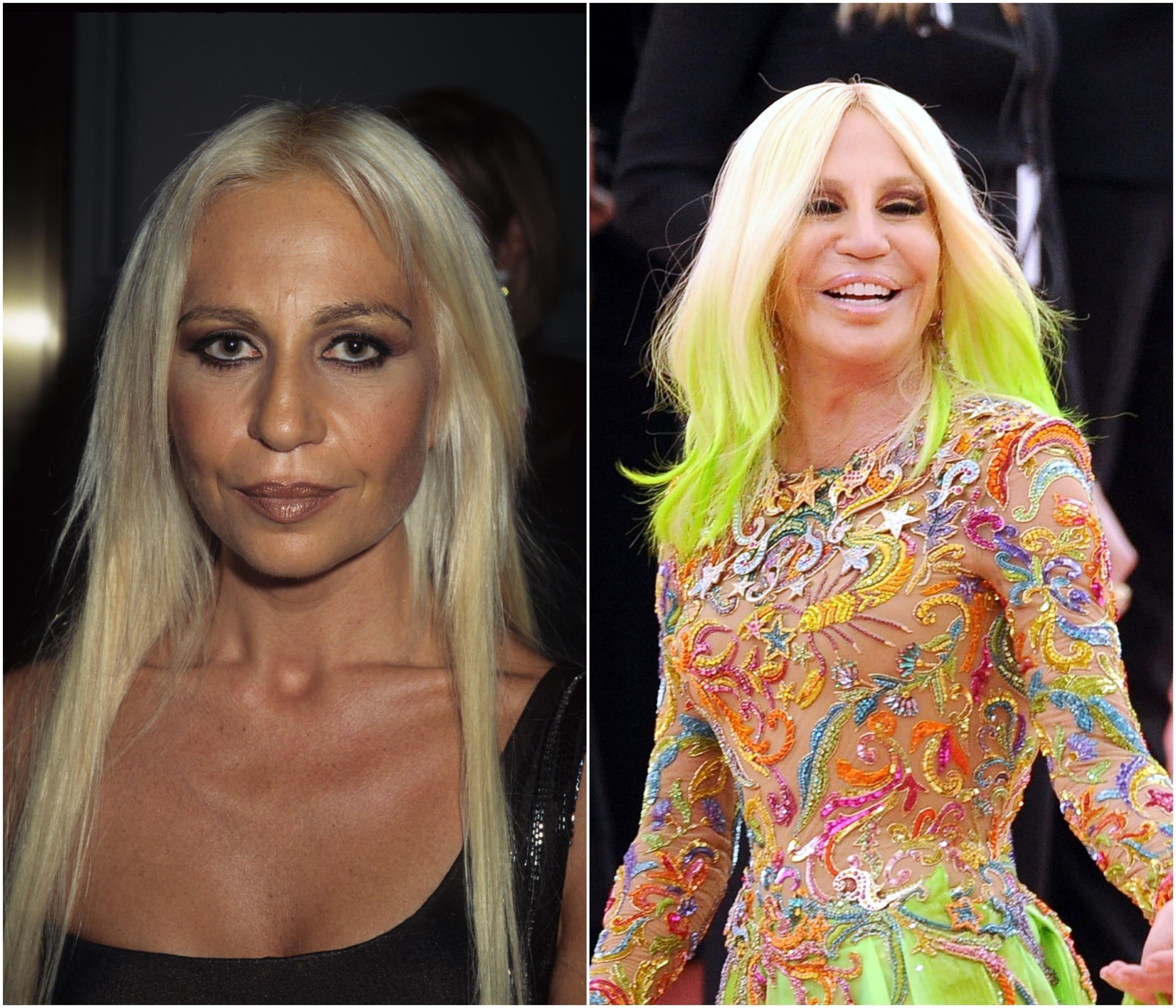 Look-ul Donatellei Versace s-a schimbat drastic în ultimii ani