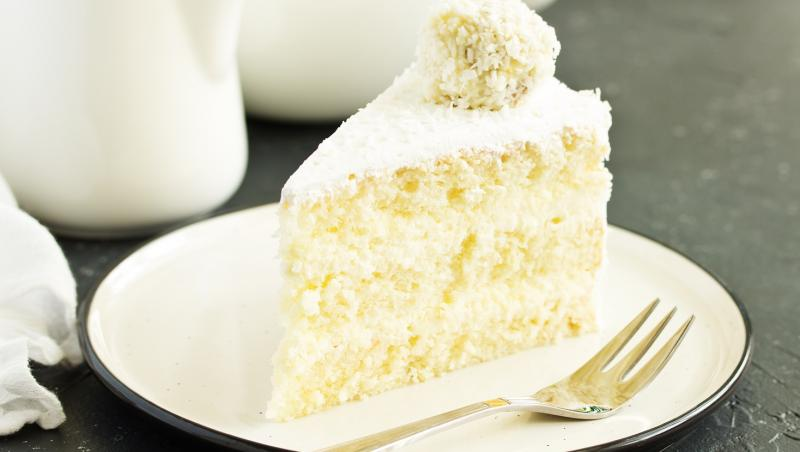 Secțiune de tort Raffaello