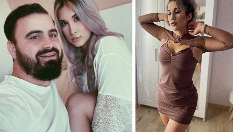 Colaf foto: în stânga e un selfie în care apare Adda cu Cătălin Rizea, iar în dreapta e Adda îmbrăcată într-o rochie scurtă și mulată
