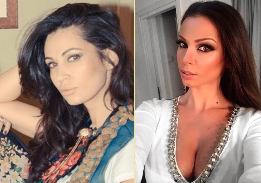 Colaj foto realizat din două poze: în stânga este portretul Nicoletei Luciu, iar în dreapta este un selfie făcut de Iuliana Luciu