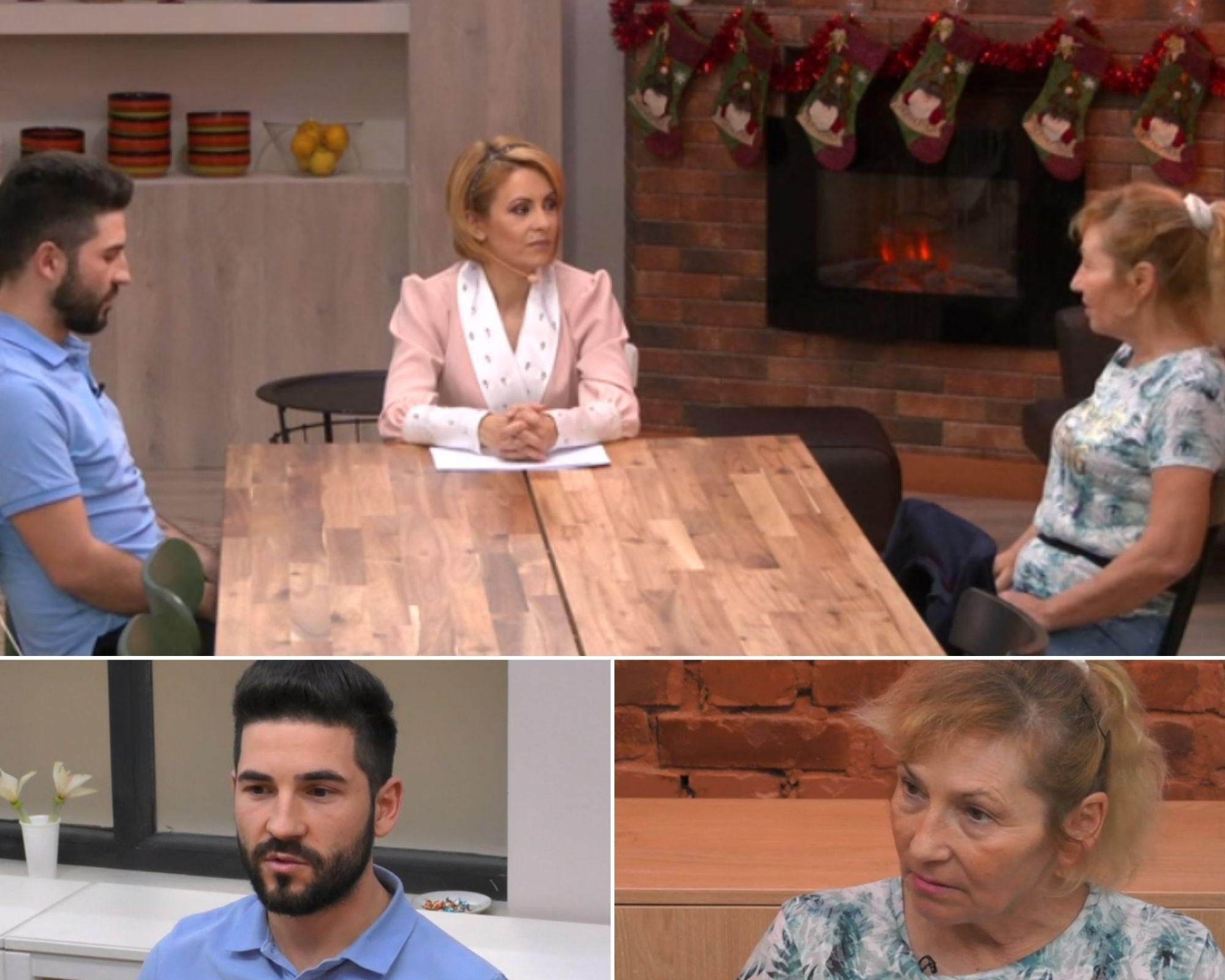 David, Mia si Simona Gherghe, in timpul emisiei live, cand s-au retras in bucatarie sa discute despre comportamentul femeii