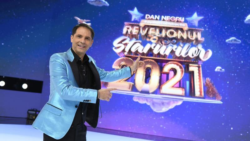 Dan Negru, surprins în platoul de filmare, la Revelionul Starurilor 2021