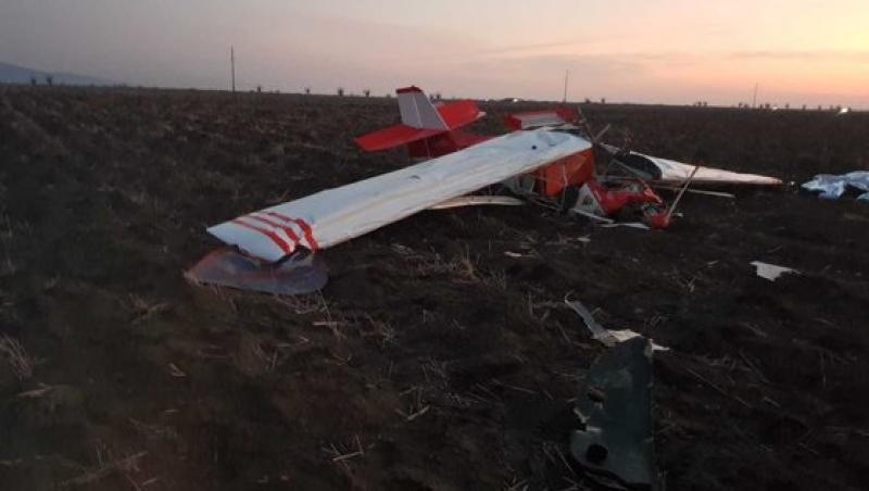 Un avion s-a prăbușit în zona localității Șiria