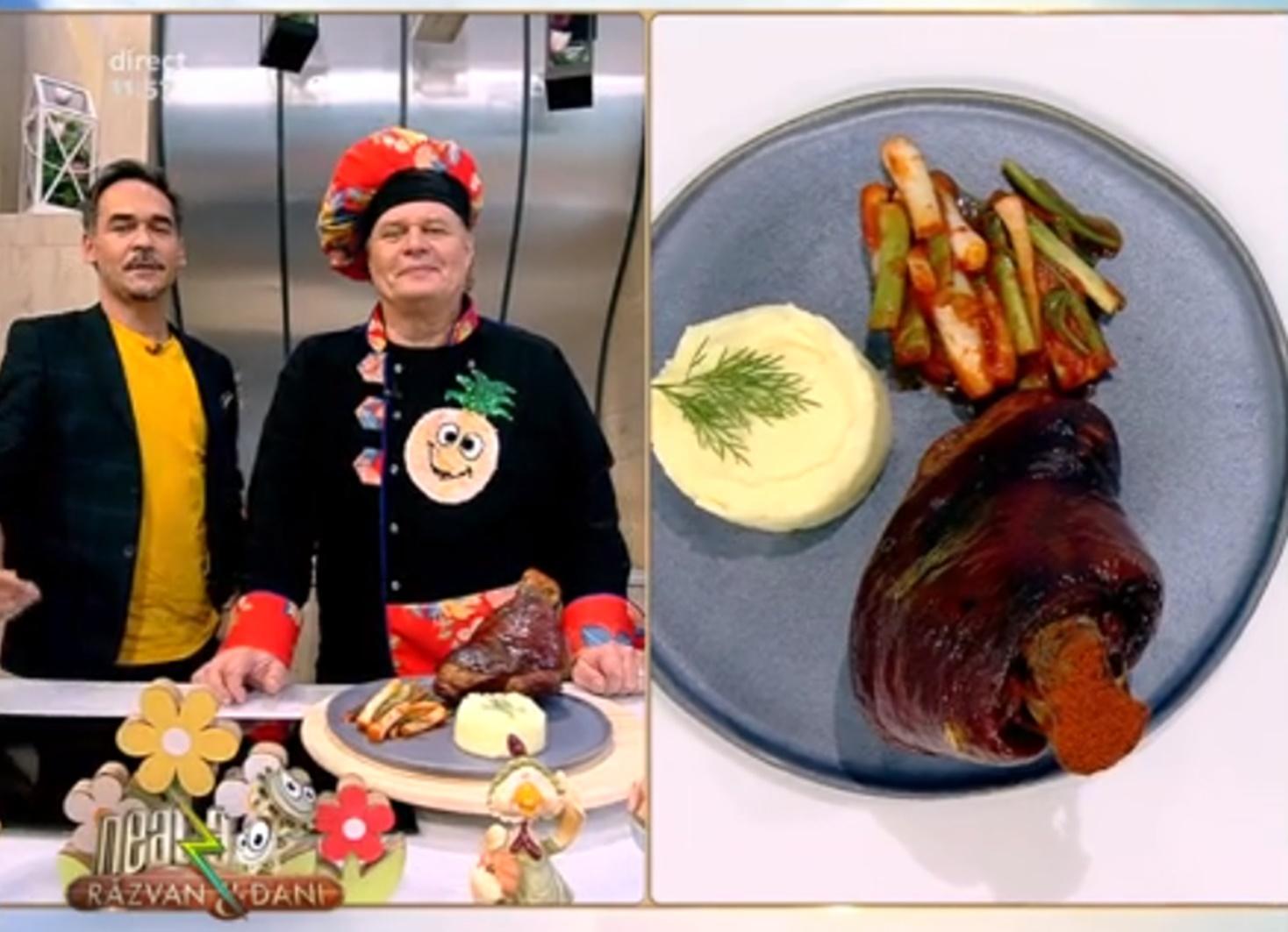 Cum faci cel mai delicios ciolan afumat cu sos și piure de cartofi cremos - Rețeta lui Vlăduț