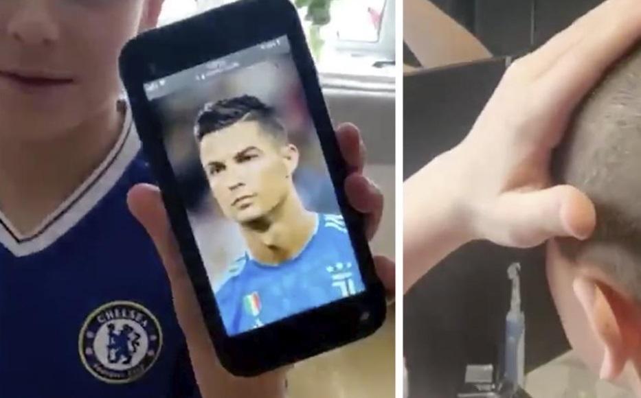 """Un băiat și-a pus tatăl să-l tundă, dar a ieșit o catastrofă! Cum a fost umilit cel mic: """"Să mă faci ca Ronaldo"""""""