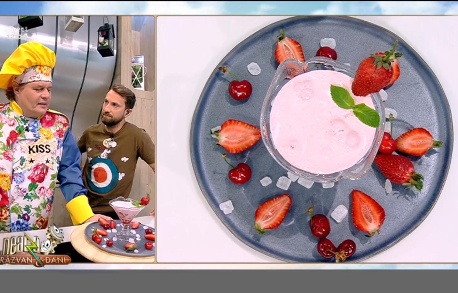 Cum se prepară delicioasa Spumă de căpșuni cu bezea elvețiană
