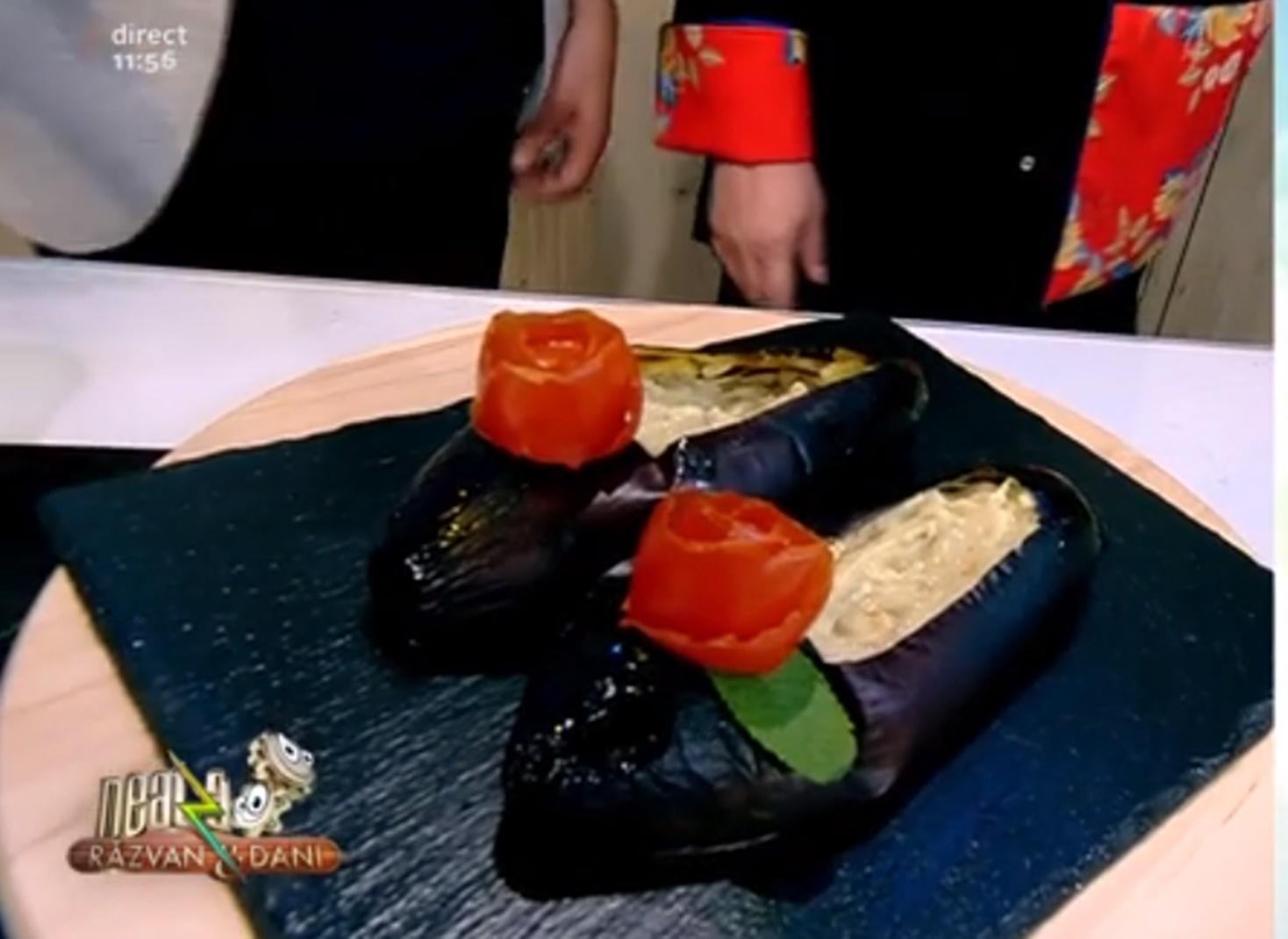 Salată de vinete cu dovlecei și iaurt sub formă de balerini - Rețeta lui Vlăduț