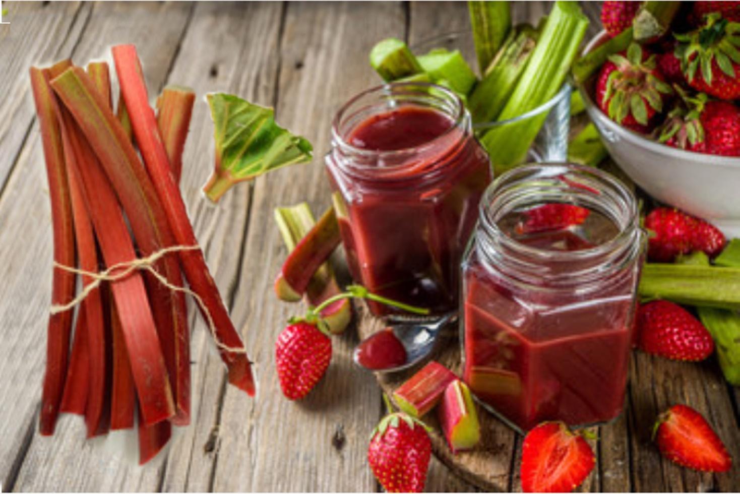 Rețetă de gem de rubarbă și căpșuni fără semințe