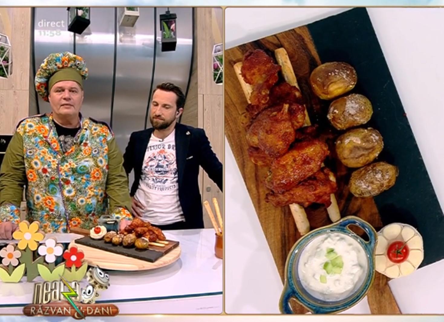 Rețetă delicioasă de aripioare de pui preparate în stil grecesc - Rețeta lui Vlăduț de la Neatza cu Răzvan şi Dani