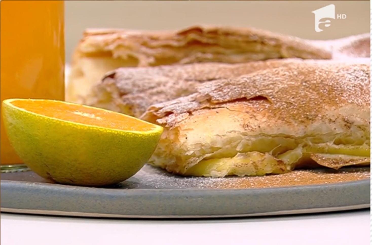 Rețeta Bougatsa cu vanilie. Rețetă de plăcintă grecească
