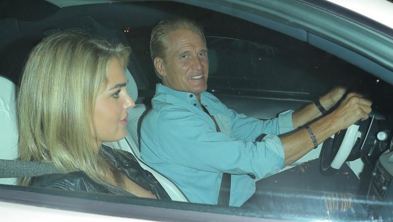 Dolph Lundgren si logodnica lui in masina