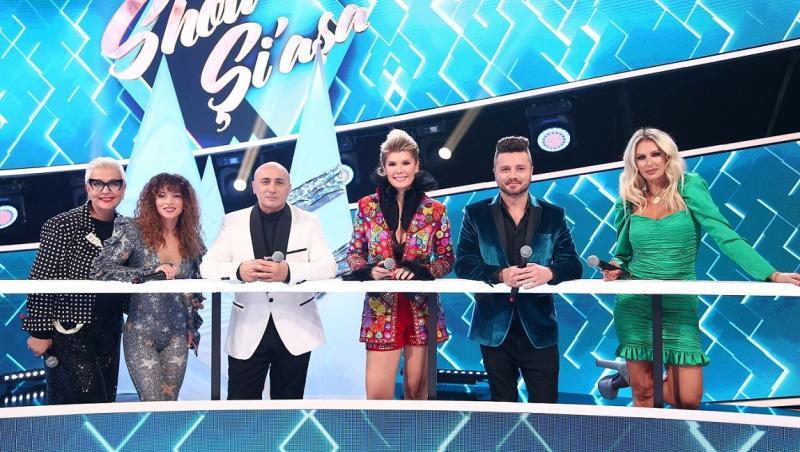 """Andrei Ștefănescu, Liviu Vârciu și Mirela Vaida, stând împreună în platoul emisiunii """"Show și-așa"""" de la Antena 1"""