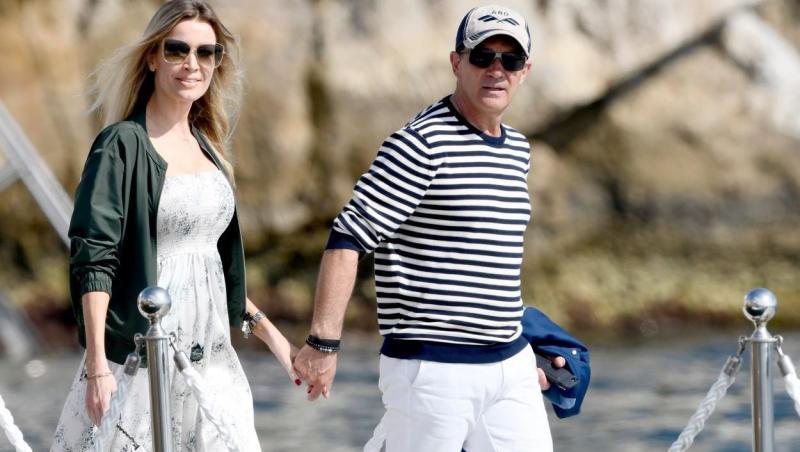 Antonio Banderas și Nicole Kimpel, surprinși la Eden Rock Hotel, în timpul Festivalului de la Cannes din anul 2019