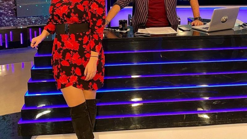 """Paula Chirilă și Dan Capatos, în platoul emisiunii """"Xtra Night Show"""""""
