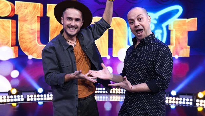 Dan Badea, alături de colegul său Șerban Copoț, pe scena iUmor