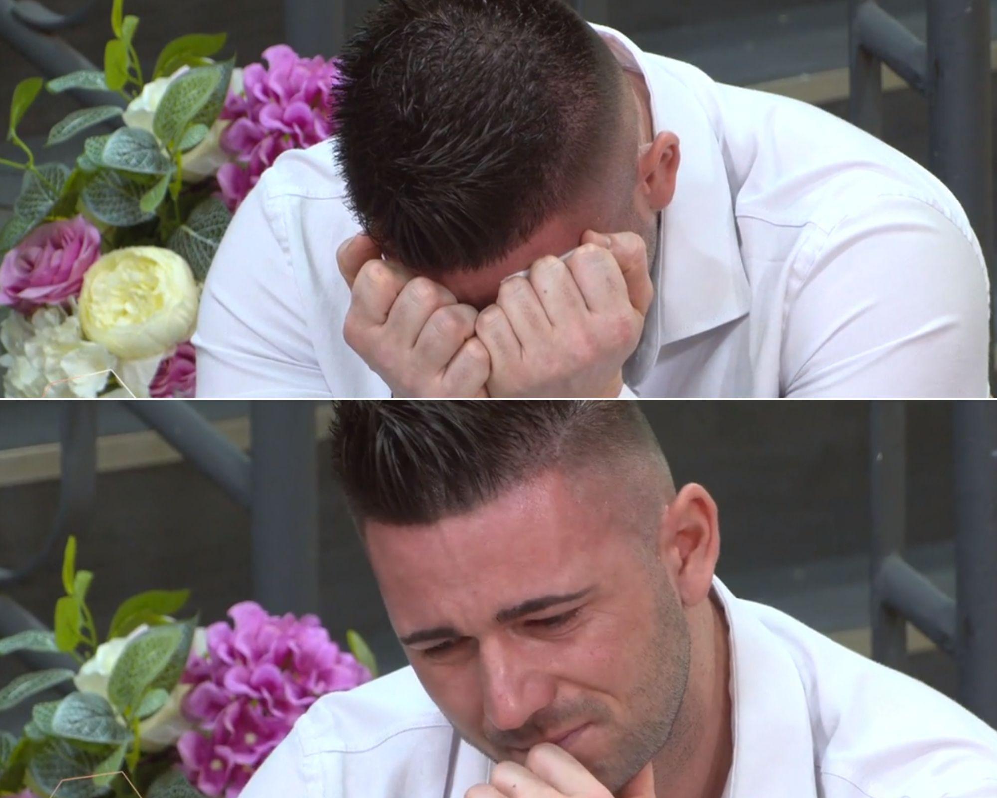 Stefan de la Mireasa in timp ce plange pentru ca bunica sa este grav bolnava