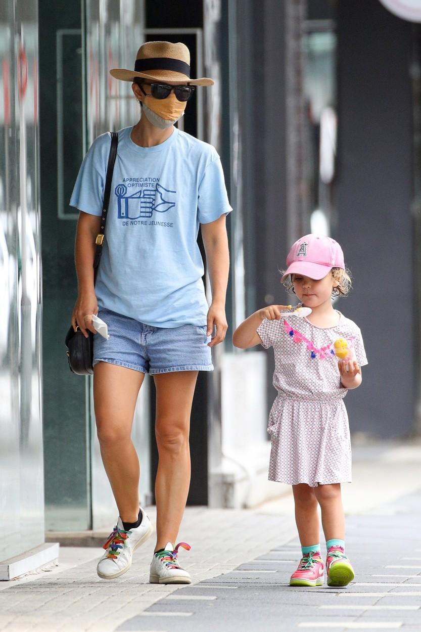 Natalie Portman alături de fiica ei, Amalia