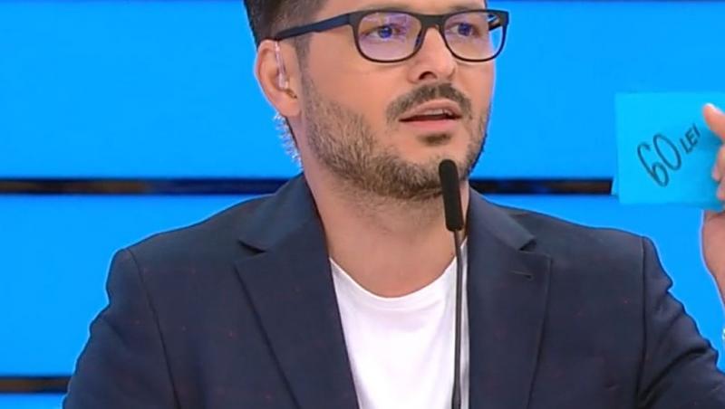 Liviu Vârciu a fost surprins să vadă cine era așezat pe salteaua gonflabilă, propusă pentru licitație, la Prețul cel bun