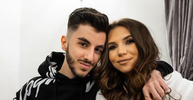 Omar Arnaout și logodnica lui, imagine romantică. Miruna este o tânără foarte frumoasă