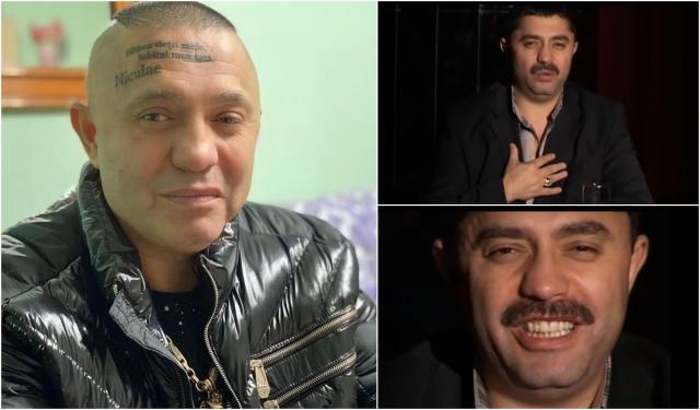 colaj de fotografii cu nicolae guta tatuat pe față și în trecut, in videolcipurile de manele