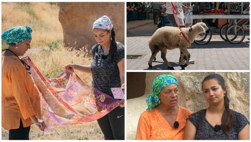 Adriana Trandafir și Maria Speranța au întâmpinat dificultăți la transportatul mielului, la Asia Express
