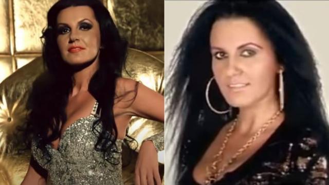 colaj de imagini cu morgana din videoclipurile la manelele ei