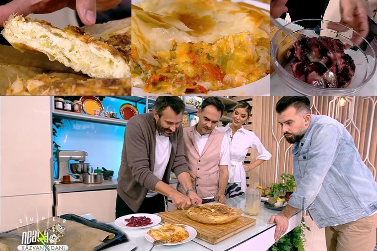 Meniul zilei la Super Neatza, 26 octombrie 2021, gătit de chef Nicolai Tand: Tartă cu praz, musaca de legume și salată de sfeclă