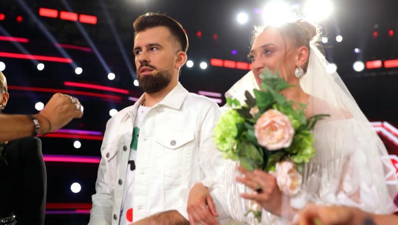 Ilona Brezoianu și Florin Ristei, la X Factor. Cei doi au făcut o nuntă ca în povești și au avut nași de seamă