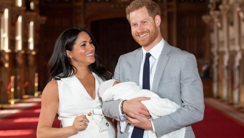 meghan markle, printul harry si bebelusul archie la biserica