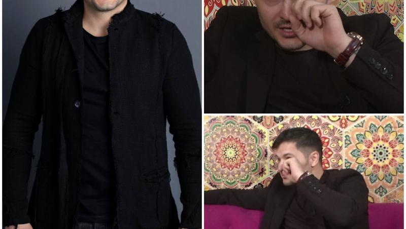 colaj de imagini cu liviu varciu imbracat in negru