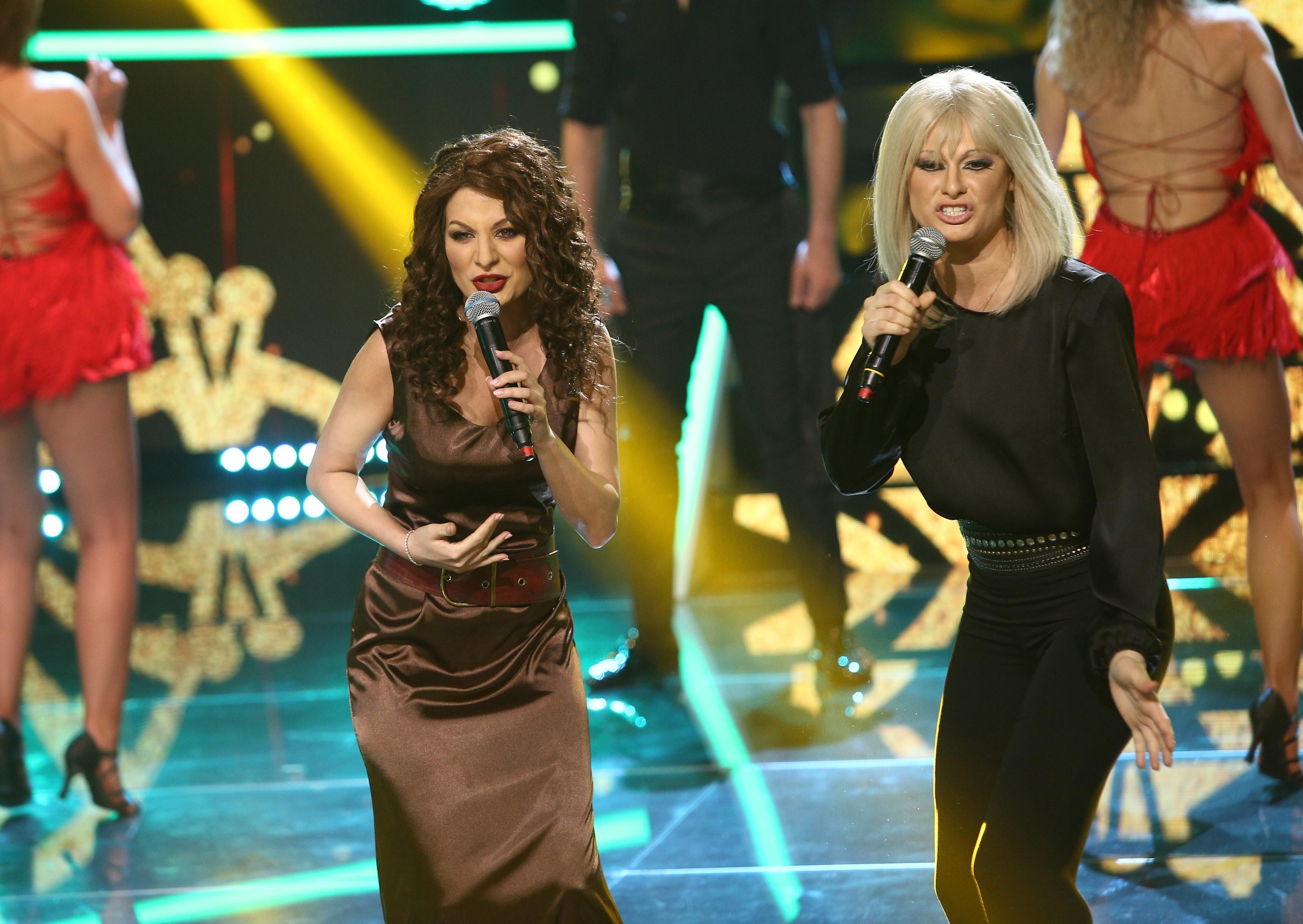 Te cunosc de undeva, 10 aprilie 2021. Raluka și Ana Baniciu, transformate în Gloria Estefan și Raffaella Carra, show ireproșabil