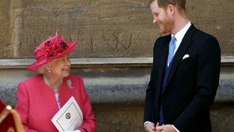 printul harry si regina elisabeta cand glumesc