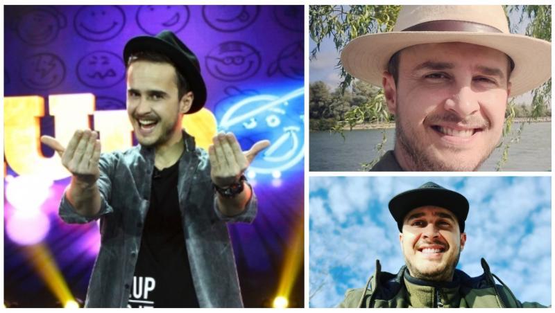 Colaj cu Șerban Copoț, purtând pălării