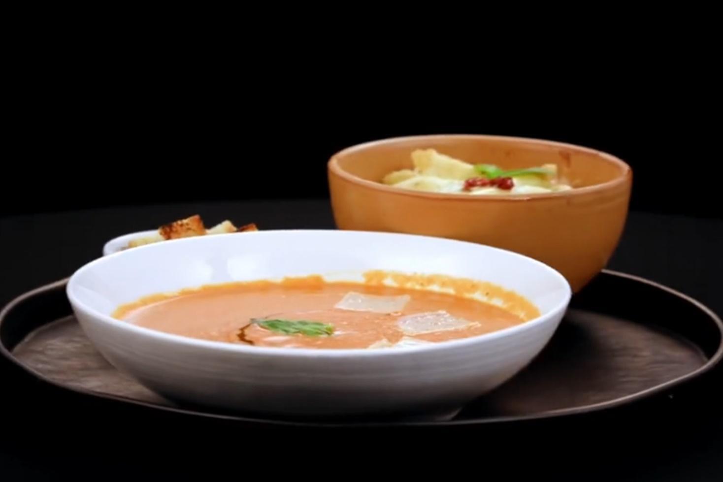 Chefi la cuțite, 19 aprilie 2021. Supă cremăsiciliană de roșii și Penne quattro formaggi cu roșii uscate, gătite de Ioana Cutugno